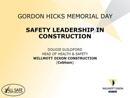 GORDON HICKS MEMORIAL DAY