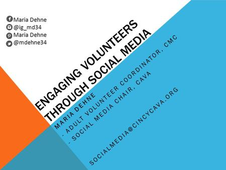 Engaging volunteers through social media