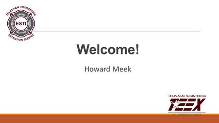 Welcome! Howard Meek. Today's Agenda Let's talk How it all started Why a Chaplain Finding the right person What can they do Demographics.
