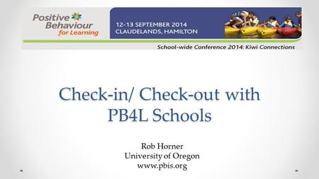 Check-in/ Check-out with PB4L Schools