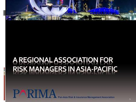 A Regional association for risk managers in Asia-pacific