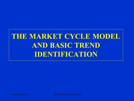 Tarek AMYUNITECHNICAL ANALYSIS THE MARKET CYCLE MODEL AND BASIC TREND IDENTIFICATION.