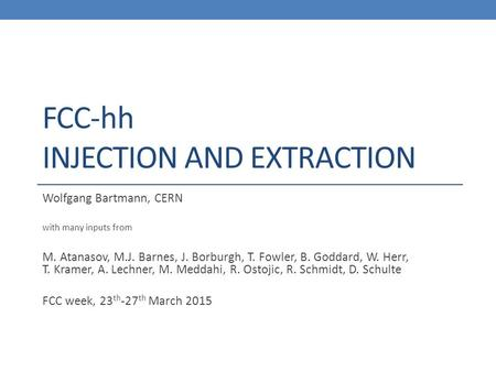 FCC-hh Injection and Extraction
