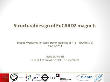 Structural design of EuCARD2 magnets