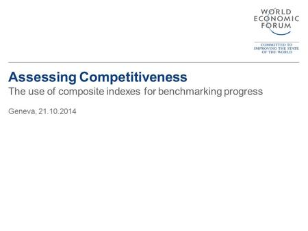 The Global Competitiveness & Benchmarking Network