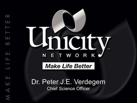 Dr. Peter J.E. Verdegem Chief Science Officer. Cellular Essentials ™