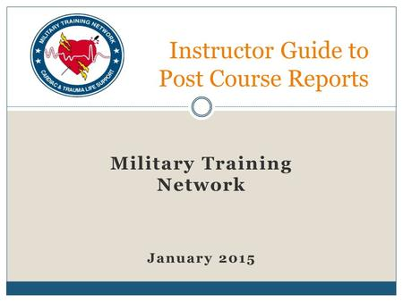 Instructor Guide to Post Course Reports