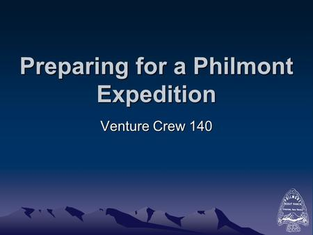 Preparing for a Philmont Expedition