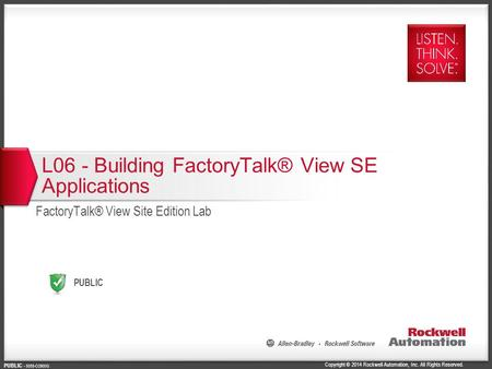 L06 - Building FactoryTalk® View SE Applications