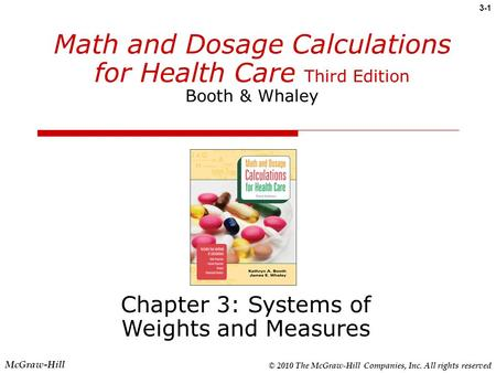 Chapter 3: Systems of Weights and Measures