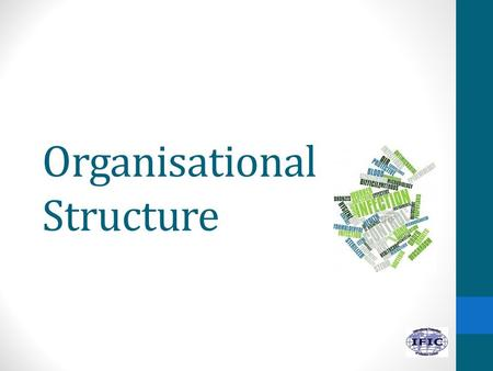 Organisational Structure. 2 Learning objectives 1.Describe how the infection prevention and control is organised in health care. 2.List the members of.