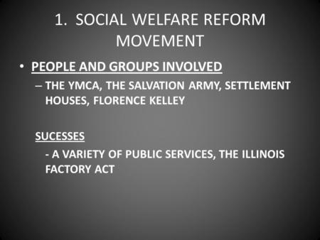 Society's Restraint To Social Reform