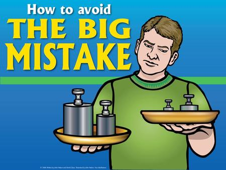 Can you tip the scales? Are you counting on accumulating good deeds to earn God's acceptance? Avoid the big mistake!