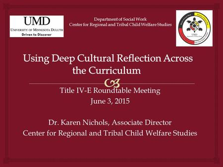 Using Deep Cultural Reflection Across the Curriculum