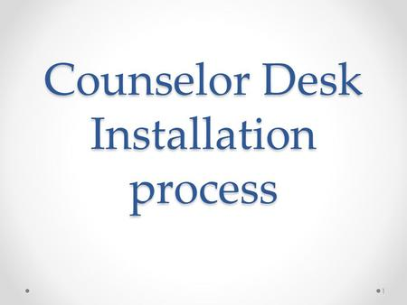 Counselor Desk Installation process 1. Google ids for all ALCs MKCL has provided google login id and password to all Network partner Kindly login to your.