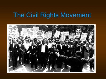 The Effects of the Civil Rights Movement of the 1960s