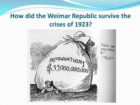 How did the Weimar Republic survive the crises of 1923?