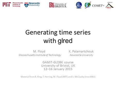 Generating time series with glred