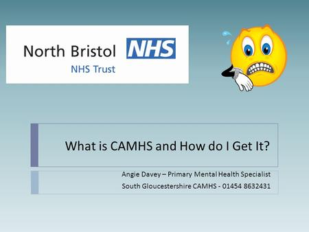 What is CAMHS and How do I Get It? Angie Davey – Primary Mental Health Specialist South Gloucestershire CAMHS - 01454 8632431.