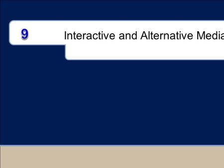 Interactive and Alternative Media. Chapter Outline I.Interactive Media II.The Internet III.Internet Advertising IV.E-Mail Advertising V.Alternative and.