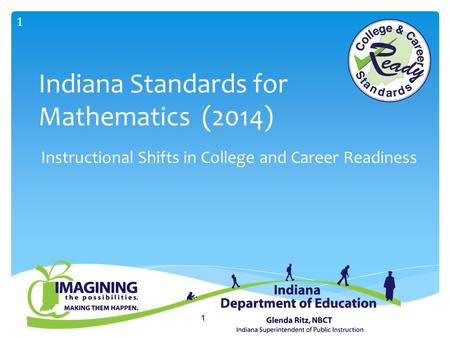 1 Indiana Standards for Mathematics (2014) Instructional Shifts in College and Career Readiness 1.