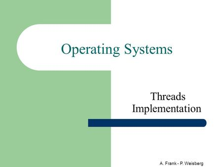 A. Frank - P. Weisberg Operating Systems Threads Implementation.
