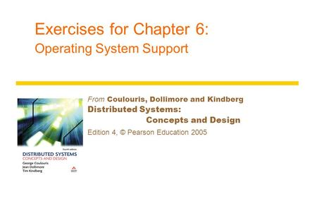 Exercises for Chapter 6: Operating System Support