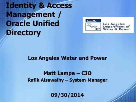 Identity & Access Management / Oracle Unified Directory