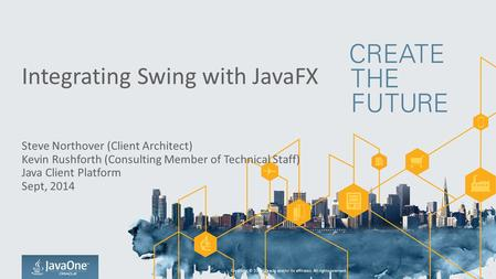 Integrating Swing with JavaFX
