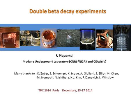 Double beta decay : physics case