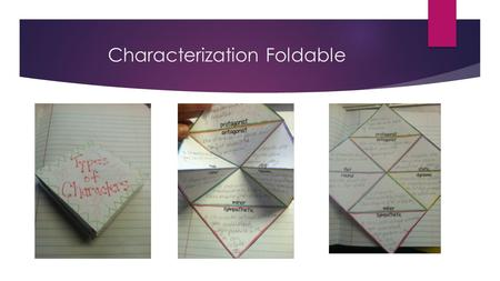 Characterization Foldable