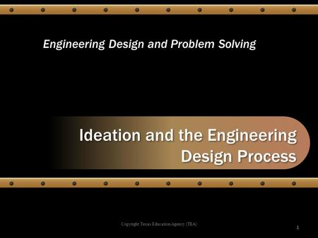 Ideation and the Engineering Design Process
