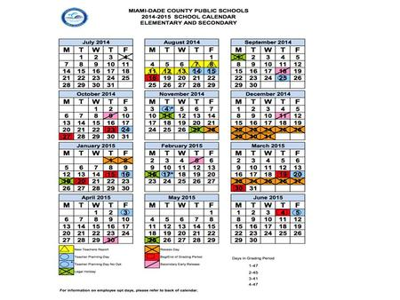 2014 – 2015 Schedule – 2015 Schedule Q – 2015 Q-1 August September Week Month From To 1 August