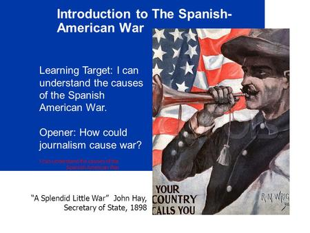 Introduction to The Spanish-American War