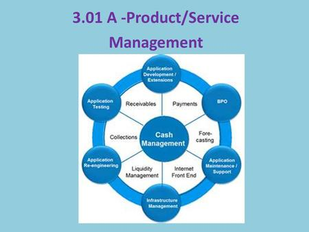 3.01 A -Product/Service Management