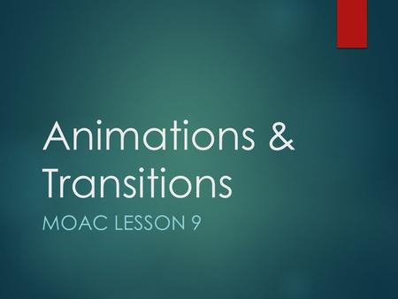 Animations & Transitions