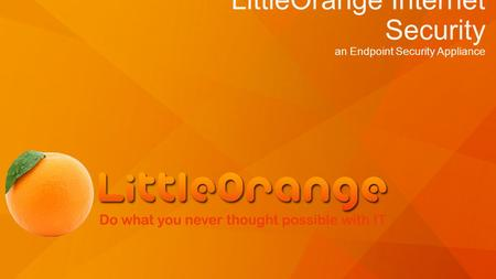 LittleOrange Internet Security an Endpoint Security Appliance.