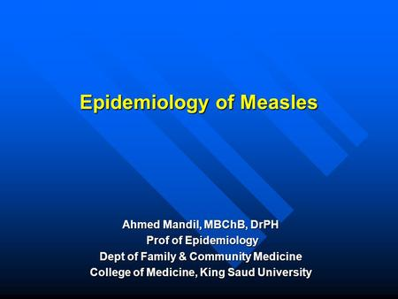 Measles Rubeola Virus Genus Morbillivirus