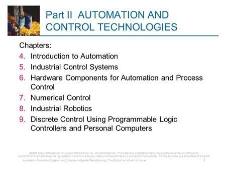 Part II AUTOMATION AND CONTROL TECHNOLOGIES
