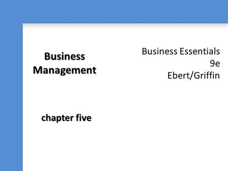 Business Management chapter five.