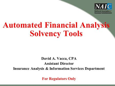 Automated Financial Analysis Solvency Tools