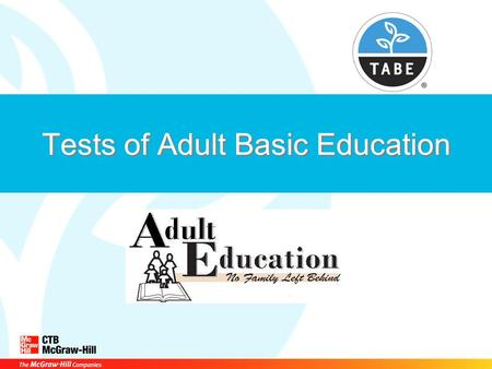 Remarkable, tests of adult basic education