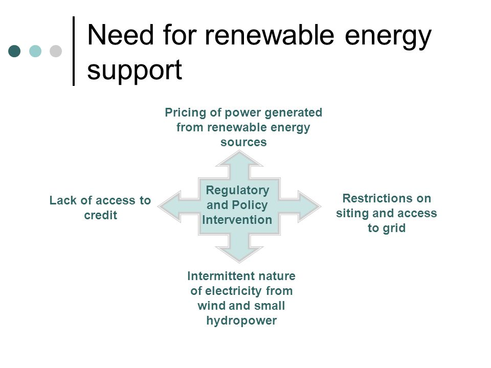 Renewable energy policy experience Feed-in Tariffs (E.g.