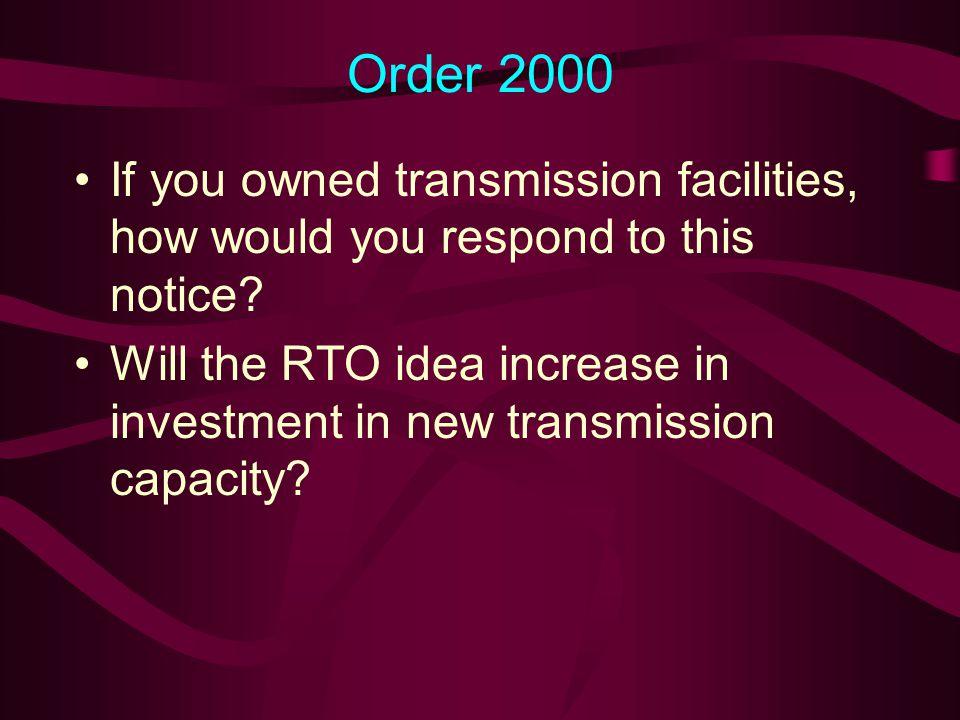 Originally Proposed RTOs