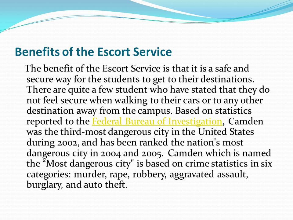 What students should know The escort service is free to all attending students Public transportation is cheap and convenient Security will send a van to pick you up and drop you off to the Walter Rand Transportation Center, Riverline and the Hi-speedline.
