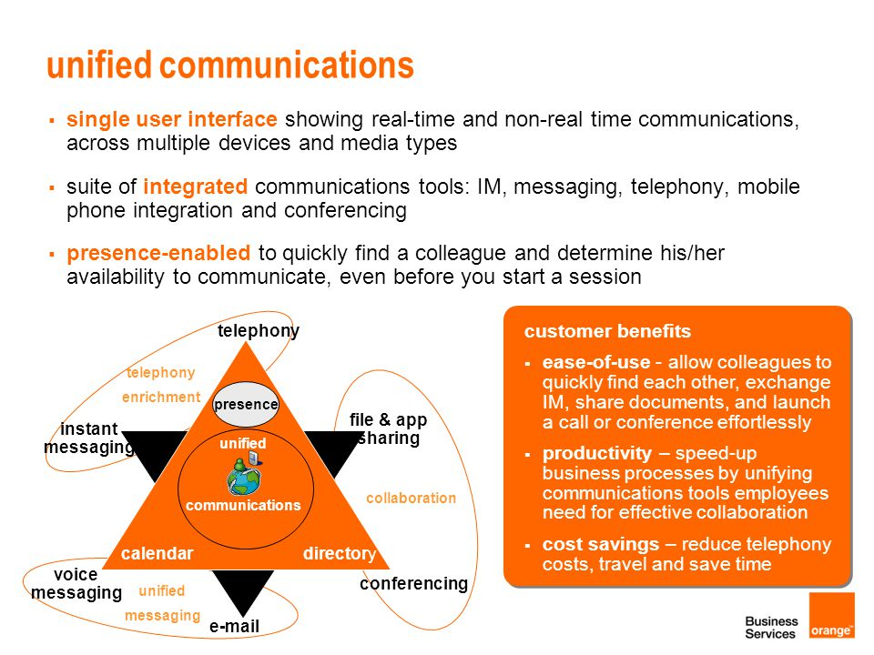 Unified Communication as-a-service UCaaS Business Together as a Service 1.UC as a Service linked to our Cloud Computing strategy 1.built upon Flexible 4 Business partnership 2.business agility and flexibility 1.rapid provisioning, scale up/down based on business needs 2.virtualization, server consolidation 3.pay as you go, no CapEx 3.accelerate adoption of Unified Communication services 4.differentiate from traditional integrators of UC services