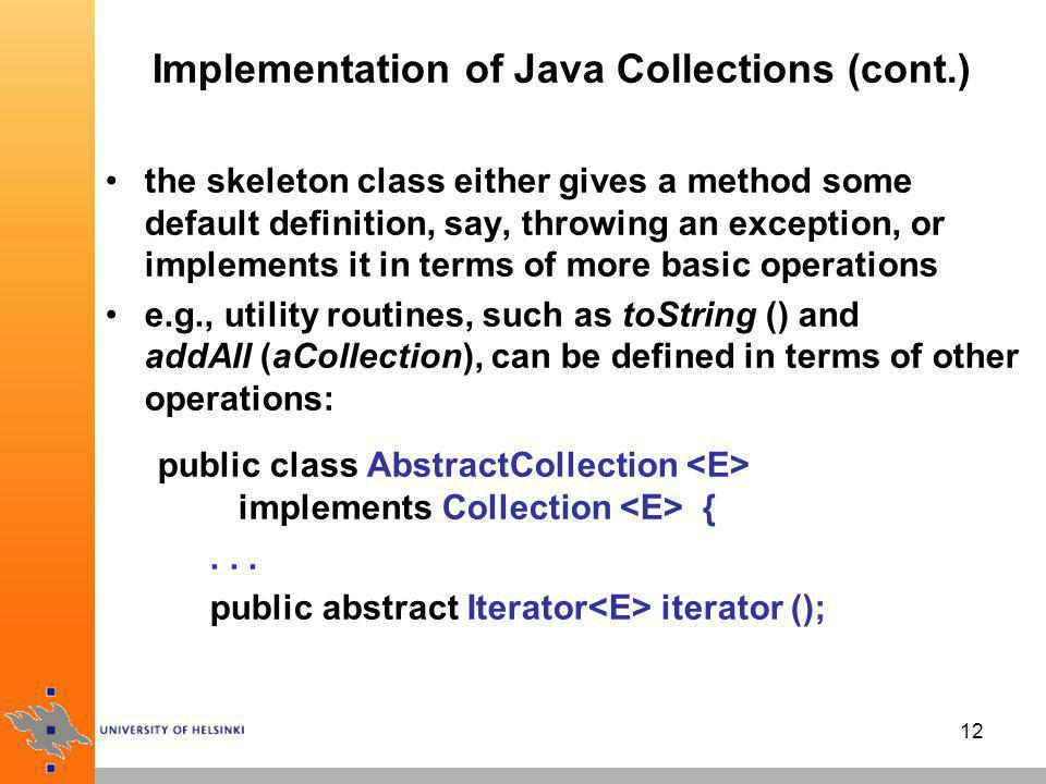 13 Implementation of Java Collections (cont.)...
