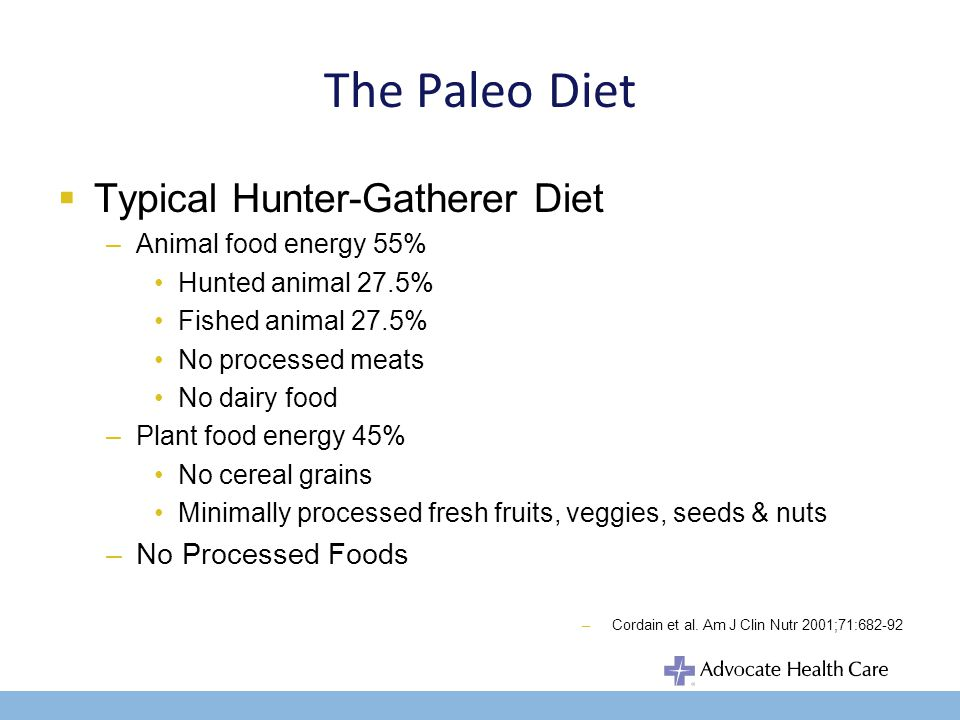 The Paleo Diet Nutrient differences between: –wild vs.