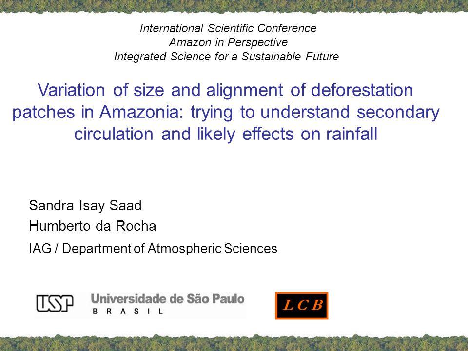 INTRODUCTION Large scale amazonian deforestation evapotranspiration decreases rainfall decreases patchy deforestation: deforestation breeze ?.