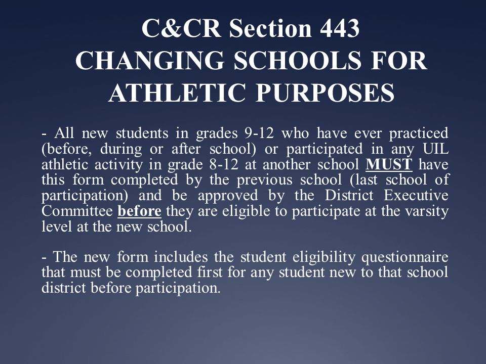 C&CR Section 441 AMATEUR ATHLETIC STATUS Amateur Athletic Status is violated upon the following- 1.